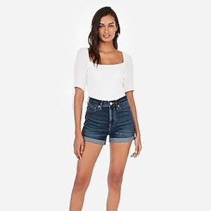 High Rise Express Jean Shorts